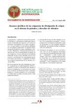 Documentos de Investigación No 2, Iniciativa de Biopiratería