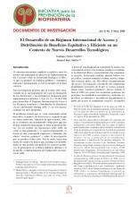 Documentos de Investigación No 9, Iniciativa de Biopiratería