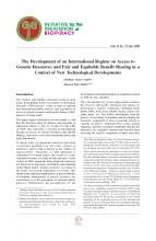 Documentos de Investigación No 10, Iniciativa de Biopiratería