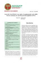 Documentos de Investigación No 11, Iniciativa de Biopiratería