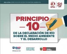 Principio 10: De la Declaración de Río sobre el Medio Ambiente y el Desarrollo