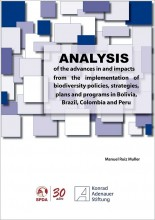 Analysis of the advances in and impacts from the implementation of biodiversity policies, strategies, plans and programs in Bolivia, Brazil, Colombia and Peru