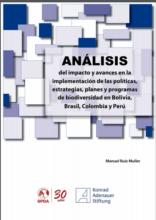 Análisis del impacto y avances en la implementación de las políticas, estrategias, planes y programas de biodiversidad en Bolivia, Brasil, Colombia y Perú