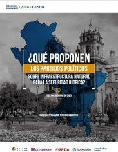¿Qué proponen los partidos políticos sobre infraestructura natural para la seguridad hídrica? Gobierno Regional de Cusco