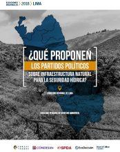 ¿Qué proponen los partidos políticos sobre infraestructura natural para la seguridad hídrica? Gobierno Regional de Lima