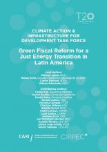 Climate action & infrastructure for development task force: Green fiscal reform for a just energy transition in Latin America