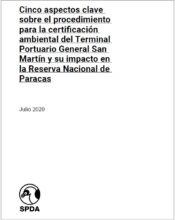Cinco aspectos clave sobre el procedimiento para la certificación ambiental del Terminal Portuario General San Martín y su impacto en la Reserva Nacional de Paracas
