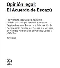 Opinión legal: el acuerdo de Escazú