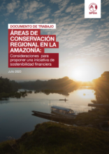 Áreas de conservación regional en la Amazonía: consideraciones para proponer una iniciativa de sostenibilidad financiera