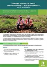 Acuerdos para incentivar la conservación de la agrobiodiversidad